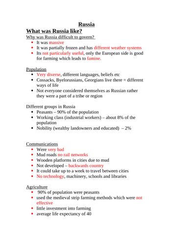 GCSE Russian History 1917-1943