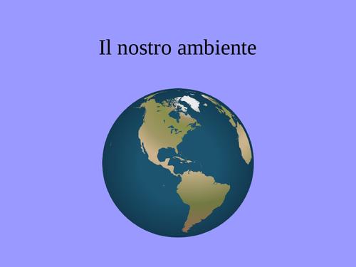 Italian GCSE The Environment