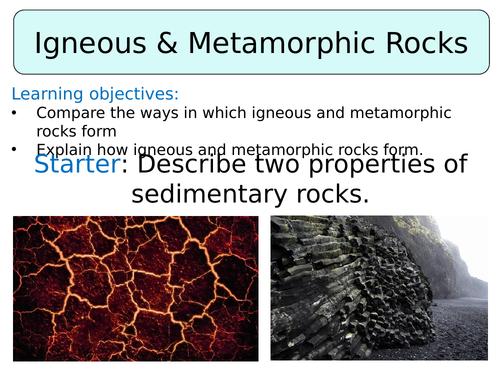 KS3 ~ Year 8 ~ Igneous & Metamorphic Rock