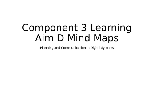 BTEC DIT Component 3 Learning Aim D Mind Maps