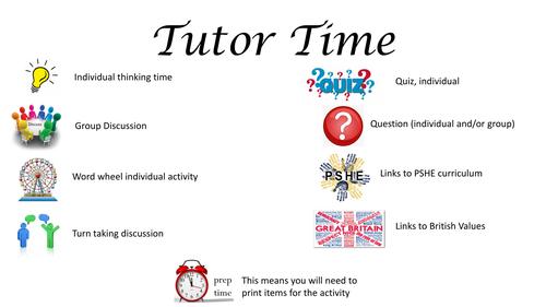 Starters/Tutor Time Activities