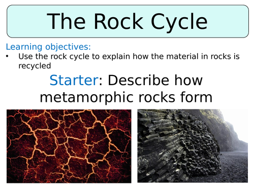 KS3 ~ Year 8 ~ The Rock Cycle