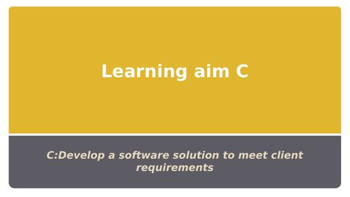 Btec National Level 3 IT Unit 4 Programming: Learning Aim C
