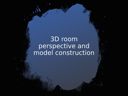 3d room prespective and model construction presentation