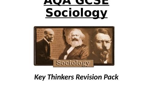 AQA GCSE Sociology - Key sociologists revision pack