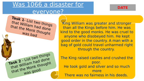 Lesson: Was 1066 a disaster for everyone?