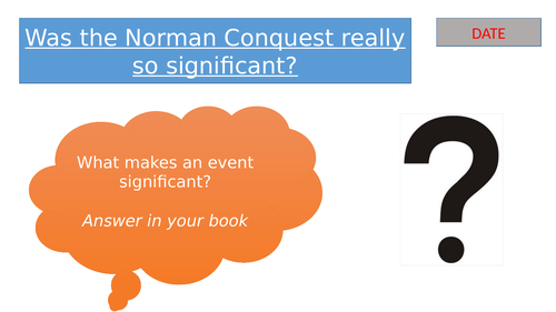 Lesson: Was the Norman Conquest really so significant?