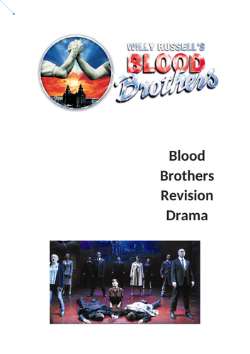 AQA Drama Written exam Blood Brothers Revision booklet