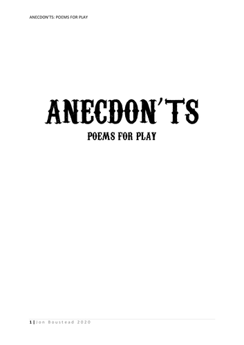 Anecdon'ts: Poems for Play