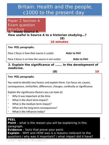 AQA GCSE History: Paper 2 Question Guidance