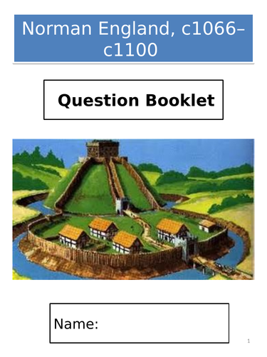 AQA GCSE History; Norman England, c1066–c1100 - Exam Question Booklet