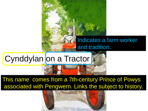 WJEC GCSE poetry 2021 - 'Cynddylan on a Tractor' by RS Thomas PPT