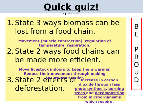 Factors affecting food security