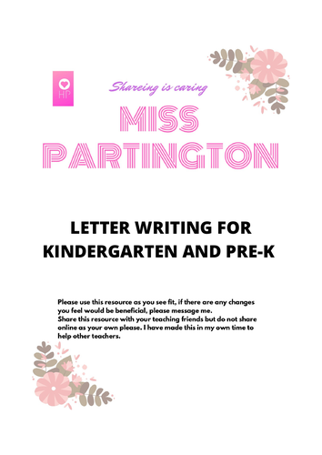 Letter writing for Pre-K and K