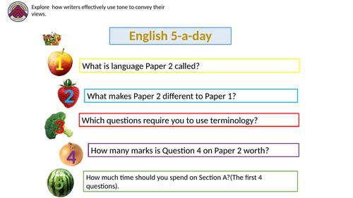 English Language AQA Paper 2 prep- Harry and Meghan presentation.