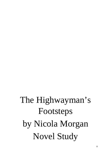 The Highwayman's Footsteps Read and Respond