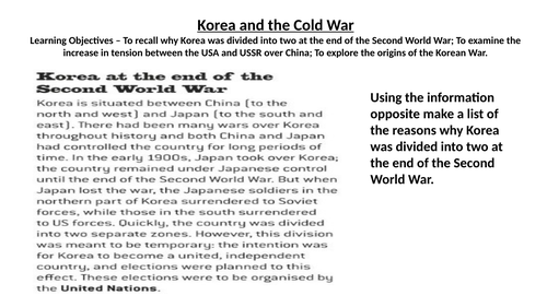 Korea and the Cold War - Lesson 3