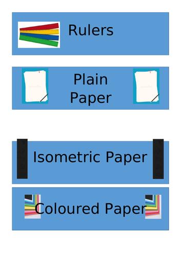 Equipment Drawer Labels Maths