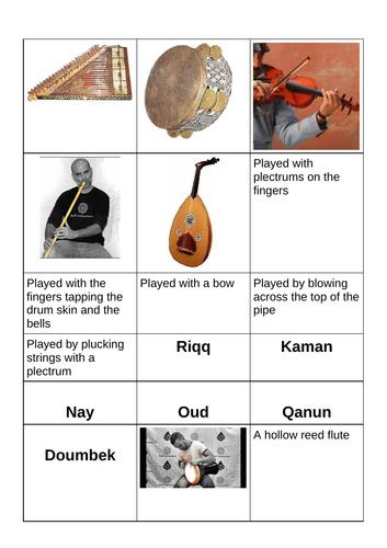 Arabic instrument activity