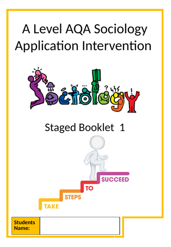 Sociology Intervention Booklet Step 1 - Short Answer Questions