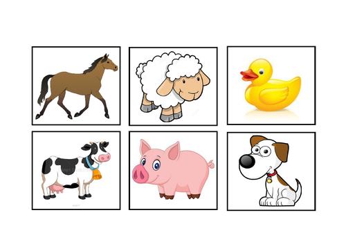 Matching animal games