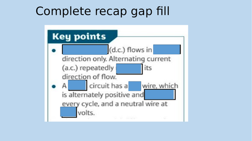 P5.2 Cables and plugs AQA 9-1