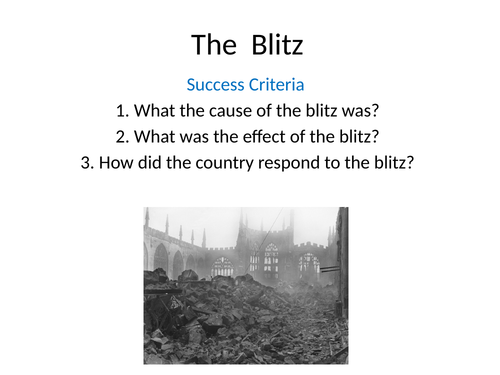 The Blitz for Key Stage 2