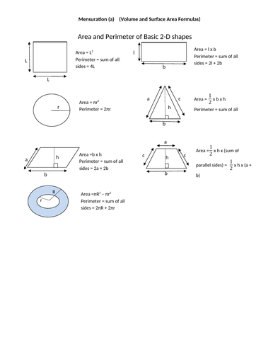 Volume and Surface Area - IGCSE Mathematics 0580 - Past Papers worksheets & Ans