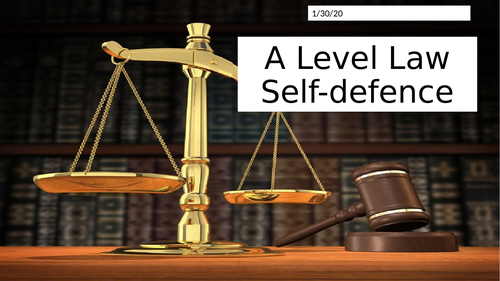 OCR A Level Law Self-defence PPT