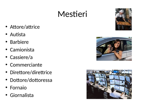 Italian GCSE Jobs