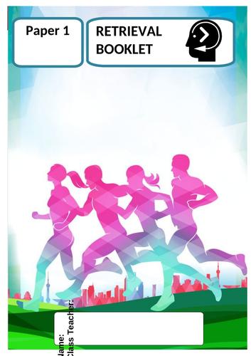 Revision AQA GCSE PE Paper 1 - Retrieval practice - HUGE REVISION BOOKLET