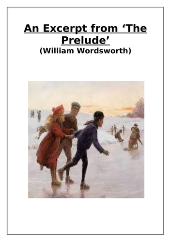 Excerpt from 'The Prelude' (William Wordsworth) 'And in the frosty season…' Comprehension Questions