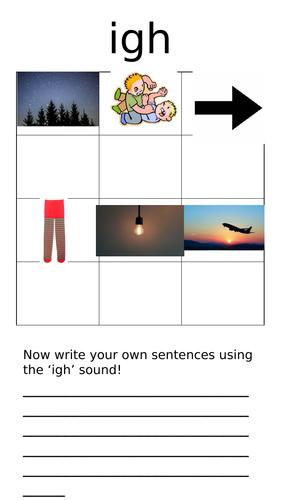 igh sound worksheet