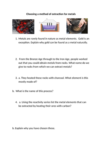 Extraction of metals - which method?