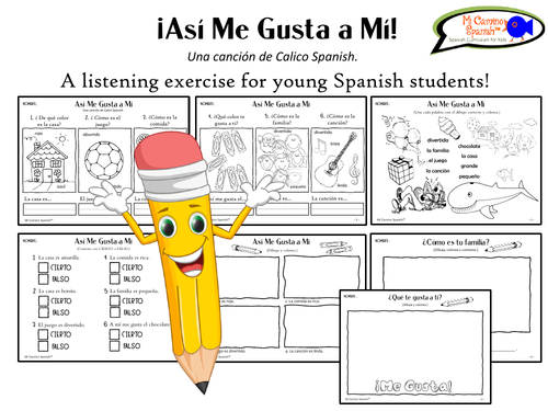 """Listening exercise for Spanish students! """"Así Me Gusta a Mí"""""""