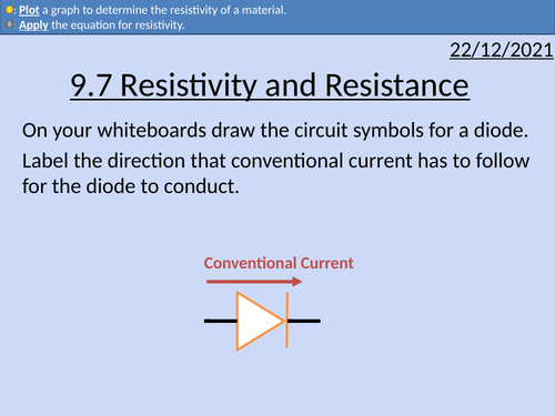 OCR AS level Physics: Resistance and Resistivity