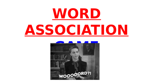 WORD ASSOCIATION Game - FUN STARTER / ICEBREAKER
