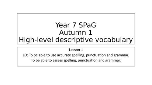 Spelling and writing development KS3
