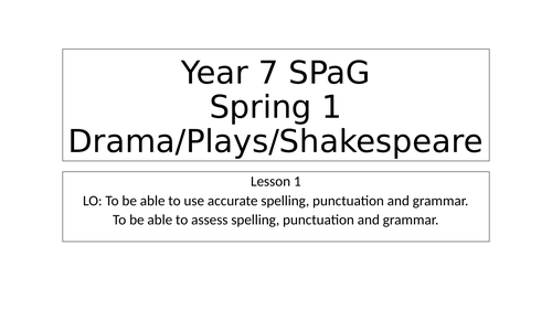 Spellings and vocab and activities