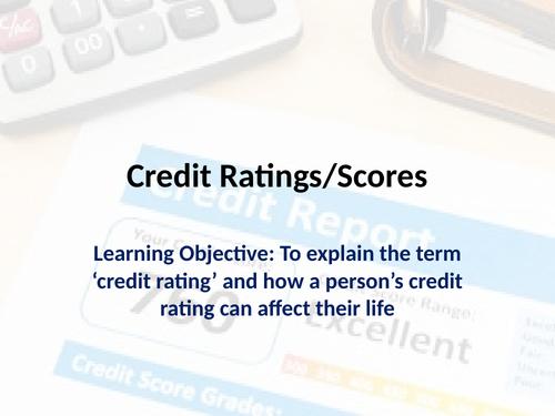 PSHE - Credit Ratings Lesson