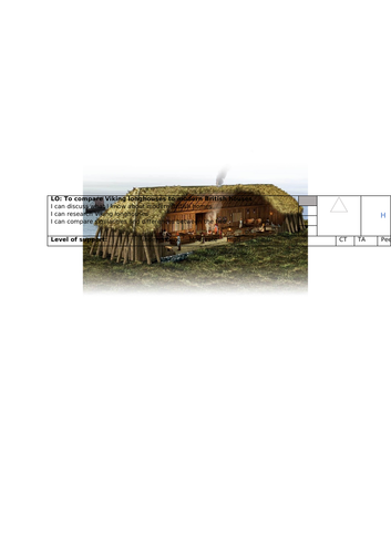 Viking longhouse comparison to modern house