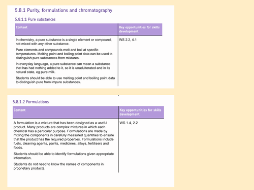 AQA Trilogy Chemical Analysis - Pure Substances and Formulations interview lesson.