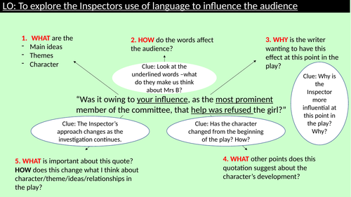 An Inspector Calls - The Inspector - exploring