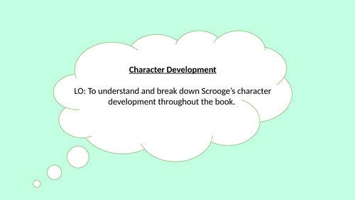 A Christmas Carol - Revision of Scrooge's character development
