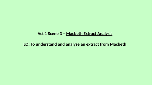 Macbeth - Macbeth and Lady Macbeth Analysis