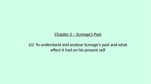 A Christmas Carol - Scrooge Childhood analysis