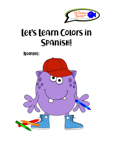 Spanish Colors Workbook! (40 pages of worksheets & activities!)