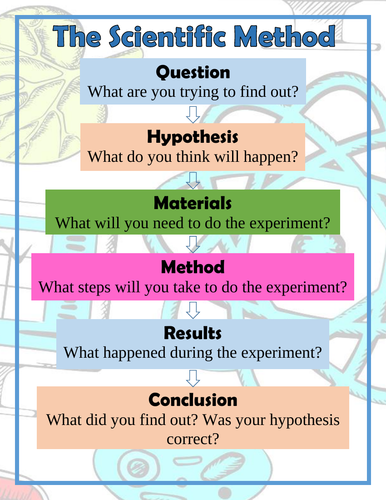 The Scientific Method Poster (Arabic/English)