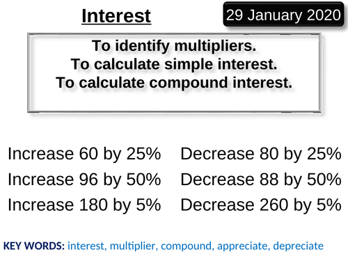 Full Lesson Simple and Compound Interest