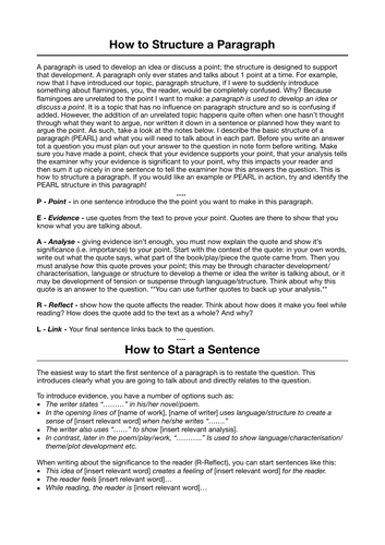 How to Structure a Paragraph for Literature Analysis